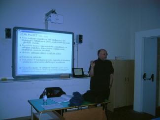 Una delle LIM del Liceo Chini